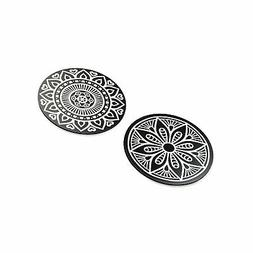 VAVA Metal Plates with 2 Circles - Strong Stickiness, Rust-F