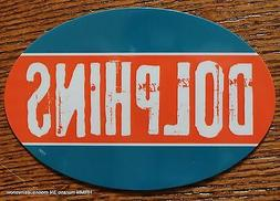Miami Dolphins Oval Car Magnet Made In The USA Football Spor