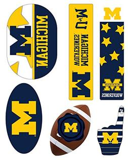 MICHIGAN WOLVERINES MAGNET SET-UNIVERSITY OF MICHIGAN 6 PACK