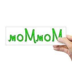 "CafePress Mommom Glitter Gel Bumper Sticker 10""x3"" Rectangle"