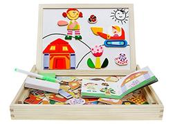BXT Children Multifunctional Wooden Magnetic Jigsaw Puzzle B