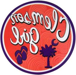 N.G. Mad Mags Clemson Girl Palm Tree and Sandals Car Magnet