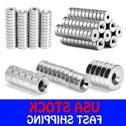 N35 Countersunk Ring Round Disc Strong Magnets Rare Earth Ne
