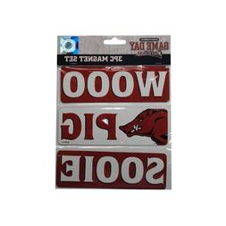 Game Day Outfitters NCAA Arkansas Razorbacks WPS Car Magnet