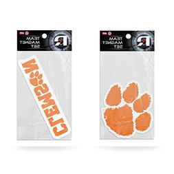 "NCAA Clemson Tigers Small Magnet Set , 11"" x 6.5"" x 25"", Ora"
