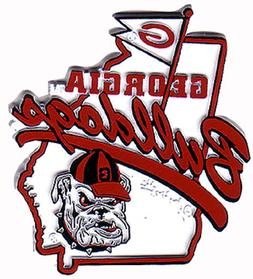 NCAA Georgia Bulldogs 2D Mascot Map Magnet