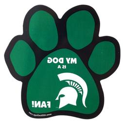 All Star Dogs NCAA Michigan State Spartans Paw Print Car Mag