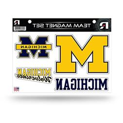 NCAA Michigan Wolverines Die Cut Team Magnet Set Sheet