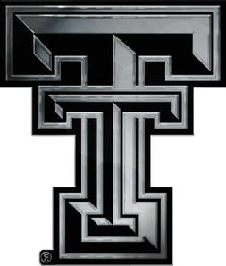 NCAA Texas Tech Red Raiders Chrome Auto Emblem Decal