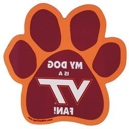 NCAA Virginia Tech Hokies Paw Print Car Magnet