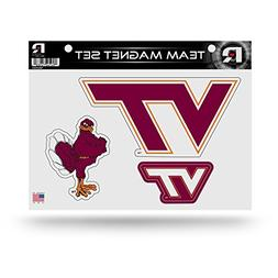NCAA Virginia Tech Hokies NCAA Team Magnet Sheet, Yellow, 11