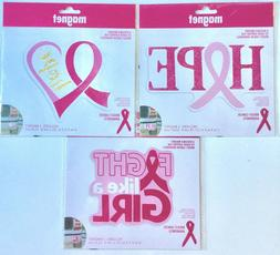 New Breast Cancer Awareness Car Magnet 3 styles to choose