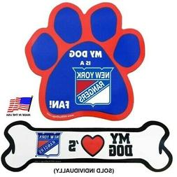 All Star Dogs New York Rangers Car Magnets - Paw
