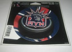 New York Rangers Official NHL 4.5 inch x 6 inch Car Magnet b