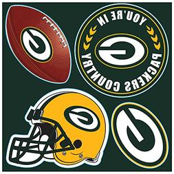 NFL Green Bay Packers Unisex NFL 4Piece Magnet Set, One Size