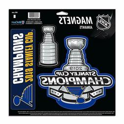 NHL St. Louis Blues 2019 Stanley Cup Champions 3-Pack Car Ma
