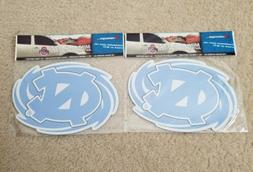 "NORTH CAROLINA TARHEELS LOT OF 2  MAGNETS 8""× 5.25"" IN CONC"