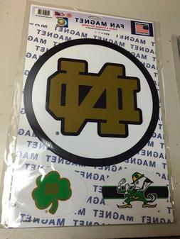 """NOTRE DAME FIGHTING IRISH Official NCAA 10 1/2"""" Car Magnet b"""