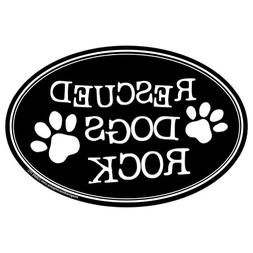 Imagine This Oval Magnet, Rescued Dogs Rock