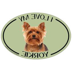 Imagine This Oval Magnet, I Love My Yorkie