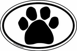 Imagine This 6-Inch by 4-Inch Oval Paw Car Magnet, Black