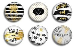Palm Tree Magnets Black and Gold - Cute Locker Magnets For T