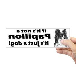 "CafePress Papillon Bumper Sticker 10""x3"" Rectangle Bumper St"