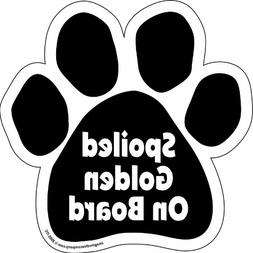 Imagine This Paw Car Magnet, Spoiled Golden on Board, 5-1/2-