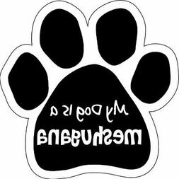 Imagine This Paw Car Magnet, My Dog Is Meshugana, 5-1/2-Inch