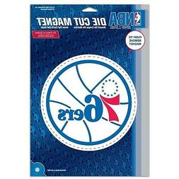 Philadelphia 76ers Official NBA 6 inch x 9 inch Car Magnet b
