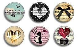 Piano Music Magnets - Cute Locker Magnets For Teen Girls - W