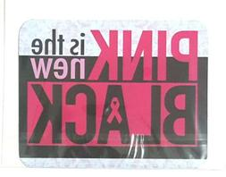 """PINK IS THE NEW BLACK"" Breast Cancer Awareness Car Magnet"
