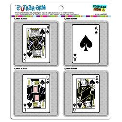 Graphics and More Playing Cards Spades Ace Jack Queen King M