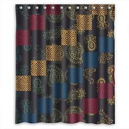 SUNSMILES Polyester Bohemian Bathroom Curtains Width X Heigh