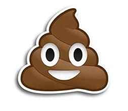 Poop Emoji Magnet Decal Perfect for Car or Truck
