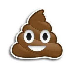 Poop Emoji Magnet 5 inch Humorous Decal Great for Car Truck