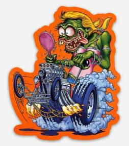 Rat Fink Girl Dragster Custom MAGNET Muscle Car Vintage Fema