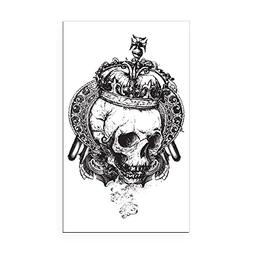 Rectangle Car Magnet Dead King Skull Crown