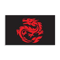 Rectangle Car Magnet Large Tribal Red Dragon