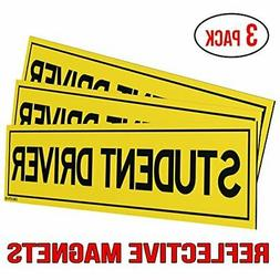 Classic Biker Gear Reflective Student Driver Magnets for Car