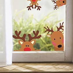 Reindeer Window Decals Nursery Wall Stickers Car Decal Home