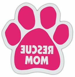 RESCUE MOM Pink Dog Paw Magnet Car Truck File Cabinet Refrig