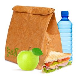 Reusable Lunch Bag Brown Paper Lunch Bag Box Sack Insulated