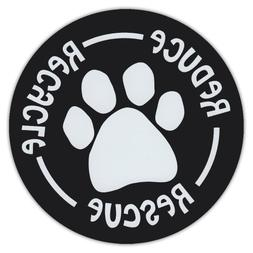 "4.75"" Round Pet Magnets: RESCUE DOGS 