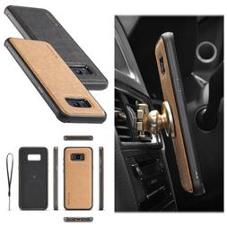 For Samsung Galaxy Note 9/S8/S9+ Leather Slim Back Case Magn
