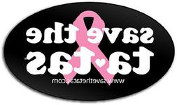 save the ta-tas Bumper Magnet - Black