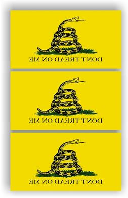 SET OF 3 Don't Tread On Me Flag American Flag Car MAGNET M