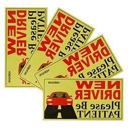 Vaincre Set of 4 Reflective Student Driver Magnets for Car,