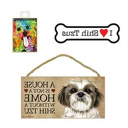 Shih Tzu Items Dog Lover Gift Bundle - Decorative Wall Sign