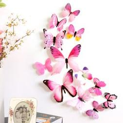 Nyalex - {Ship From US} 12PCS 3D PVC Butterfly Wall Sticker